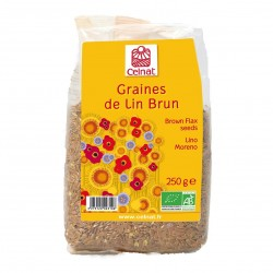 Photo Graines de lin brun 250g bio Celnat