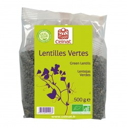Photo Lentilles vertes 500g bio Celnat