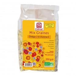 Photo Mix graines Omega 3 & Vitamine E 250g bio Celnat