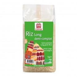 Photo Riz long demi-complet 1kg bio Celnat