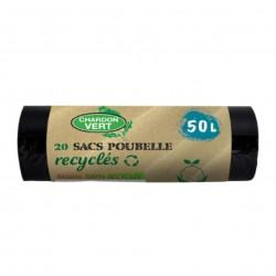 Photo Sacs poubelle recyclés 20x50L Chardon Vert