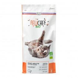 Photo Croquettes chat adulte à la volaille 2kg bio Felichef