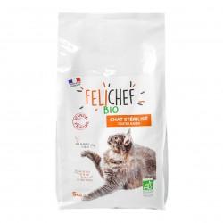 Photo Croquettes chat adulte stérilisé 5kg bio Felichef