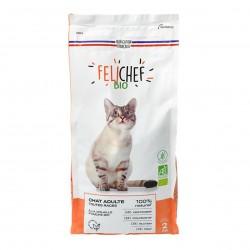 Photo Croquettes chat adulte sans céréales 2kg bio Felichef