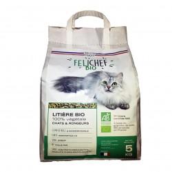 Photo Litière végétale pour chat - granulés de paille de blé 5kg bio Felichef