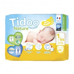 Photo Couches Tidoo Nature T1/XS Newborn 2-5kg x26 Tidoo