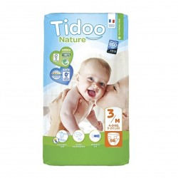 Photo Couches Tidoo Nature T3/M 4-9kg x56 Tidoo