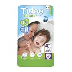 Photo Couches Tidoo Nature T4+/L+ 9-20kg x48 Tidoo