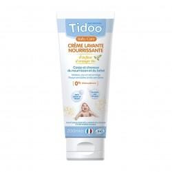 Photo Crème lavante nourrissante à la fleur d'oranger 200ml bio Tidoo