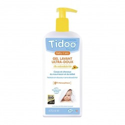 Photo Gel lavant bébé ultra doux au calendula 475ml bio Tidoo