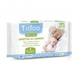 Photo Lingettes au liniment à l'huile d'olive x40 bio Tidoo
