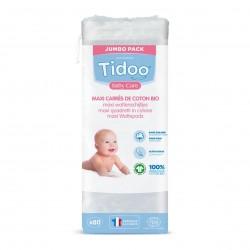 Photo Maxi carrés bébé en coton x80 bio Tidoo
