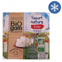 Photo Yaourt nature entier 4 x 125g bio Biogam
