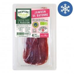 Photo Jambon de Bayonne x4 - 80g bio Bioporc