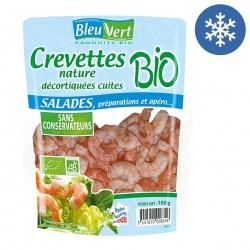 Photo Crevettes cuites nature 100g bio Bleu Vert