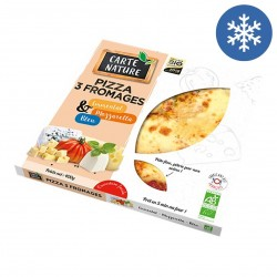 Photo Pizza 3 fromages 400g bio Carte Nature