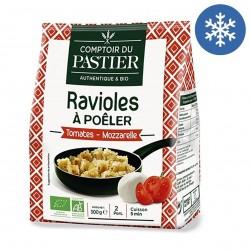 Photo Ravioles à poêler tomate & mozzarella 300g bio Comptoir du Pastier