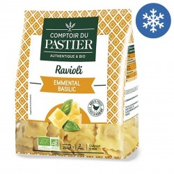 Photo Ravioli emmental-basilic 250g bio Comptoir du Pastier