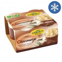 Photo Choconeige crème dessert chocolat & crème chantilly 4x110g bio Gaborit