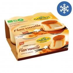 Photo Flan vanille nappé de caramel 4x100g bio Gaborit