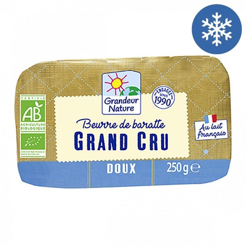 Photo Beurre de baratte cru doux 250g bio Grandeur Nature
