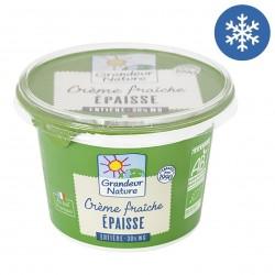 Photo Crème fraîche épaisse 30% MG 20cl bio Grandeur Nature