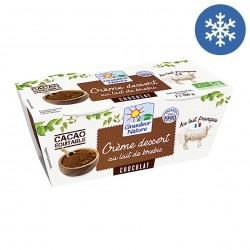 Photo Crème dessert chocolat au lait de brebis 2x100g bio Grandeur Nature