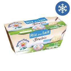 Photo Riz au lait de brebis nature 2x140g bio Grandeur Nature