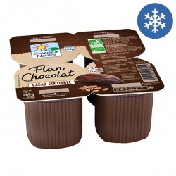 Photo Flan chocolat équitable 4x100g bio Grandeur Nature
