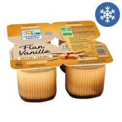 Photo Flan vanille nappage caramel 4x100g bio Grandeur Nature