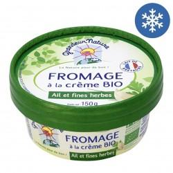 Photo Fromage à tartiner ail et fines herbes 150g bio Grandeur Nature