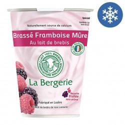 Photo Yaourt brebis brassé framboise-mûre 400g bio La Bergerie