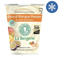 Photo Yaourt brebis brassé mangue-passion 400g bio La Bergerie