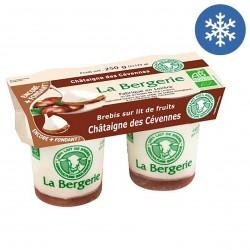 Photo Yaourt brebis à la châtaigne des Cévennes 2x125g bio La Bergerie