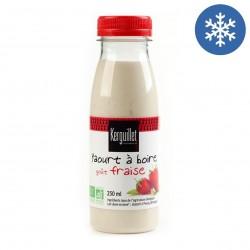 Photo Yaourt à boire fraise 250ml bio Laiterie de Kerguillet
