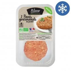 Photo Pavés gourmands haché au poulet fermier 2x90g bio Le Picoreur