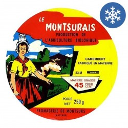 Photo Camembert lait pasteurisé 250g bio Montsurs