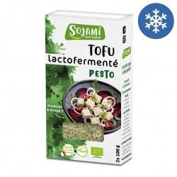 Photo Tofu lactofermenté au pesto 2x100g bio Sojami