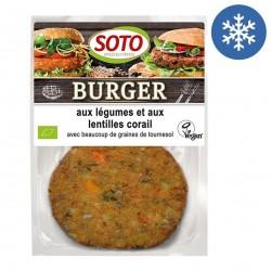 Photo Burger aux légumes & lentilles corail vegan 2x80g bio Soto