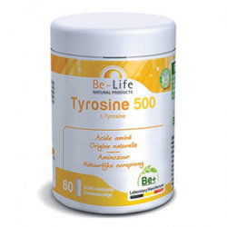 Photo Tyrosine 500 L-tyrosine 60 gélules Be-Life