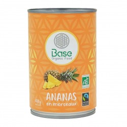 Photo Ananas en morceaux 210g bio Base Organic
