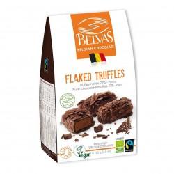 Photo Truffes aux paillettes de chocolat 72% vegan 100g bio Belvas Chocolaterie Belge