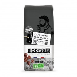 Photo Café grain 100% arabica corsé 250g bio Biodyssée