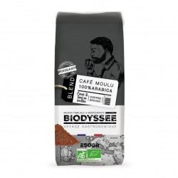 Photo Café moulu 100% arabica corsé 250g bio Biodyssée