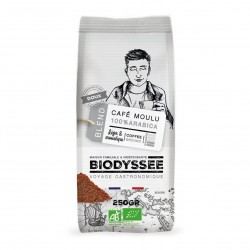 Photo Café moulu 100% arabica doux 250g bio Biodyssée