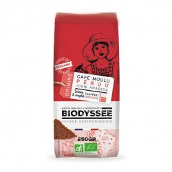 Photo Café moulu 100% pur arabica Pérou 250g bio Biodyssée