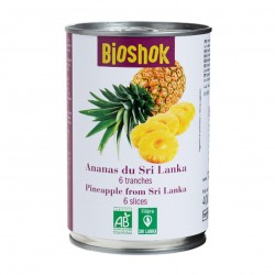 Photo Ananas en tranche 400g bio Bioshok