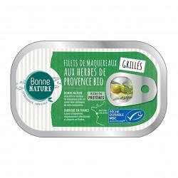 Photo Filets de maquereaux MSC grillés aux herbes de Provence 118g Bonne Nature