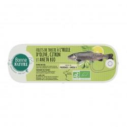 Photo Filets de truite au citron et aneth 115g bio Bonne Nature