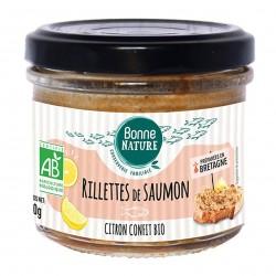 Photo Rillettes de saumon et citron confit bio 90g bio Bonne Nature